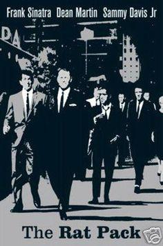 The Rat Pack Vegas Walk - 24 x 36 inch Poster * New *