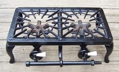 Vintage Griswold Cast Iron # 402 Double Burner Gas Stove with Porcelain Knobs -- Antique Price Guide Details Page