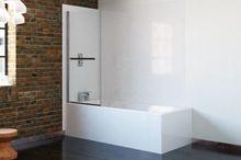 6 Series 1 Panel Single Bath Shower Screen 800mm | Bath Shower Screens | Bathrooms.com