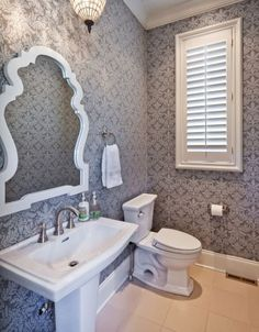 colefax and fowler wallpaper bathroom | colefax & fowler & roger