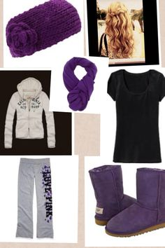 Comfortable purple outfit