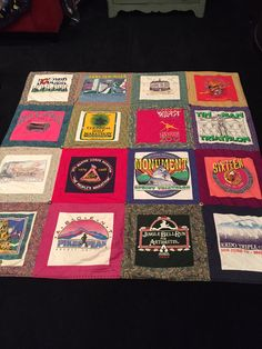 T shirt quilt from some of my favorite runs