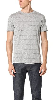 THEORY Theory Men'S Gaskell Anemone Striped Crew-Neck T-Shirt. #theory #cloth #