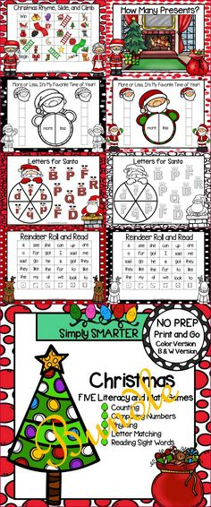 Christmas Math Games First Grade Student 70 Ideas For 2019 Literacy Games, Preschool Games, Math Games, Preschool Kindergarten, Student Games, Christmas Dinner Party Games, Christmas Math, Easy Birthday Party Games, Card Games For Kids