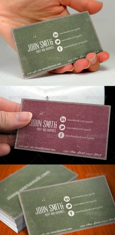 Social Media Vintage Business Card - GraphicRiver