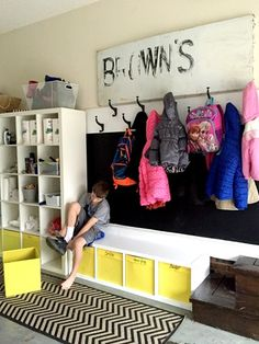 "Creating a mudroom in your garage when your home has no ""drop zone""."