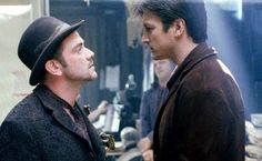 Mark Sheppard and Nathan Fillion... just two of the many reasons why Firefly should never have been cancelled!