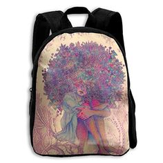SARA NELL Kids School Backpack African American Women Travel Bag For Preschool  Kindergarten Elementary Boys Girls Student 4ad3e00e17