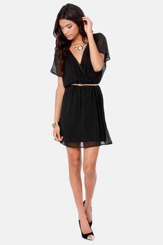 Perfect flowy black dress.