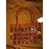 Womens Sari Handbag Choclate Brown Bollywood Purse (Apparel)  #MileyCyrus #melaniexeinalem