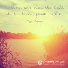 """Nothing can dim the light which shines from within"" -Maya Angelou #quotes #inspiration"