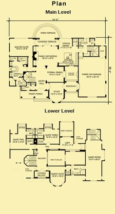 House Plans With Courtyards, Gambrel Roof House Plans, Courtyard Plans