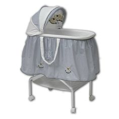 The babyhood Rocking Horse Bassinet includes a bonus net and hanging toys. The babyhood Rocking Horse Bassinet is one of our most popular bassinets Newborn Baby Needs, Baby Carrying, Baby Bassinet, Nursery Furniture, Grubs, Cot, Baby Sleep, Storage Baskets, Mattress