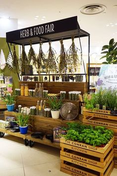 Herb & food fair at the conran shop kictchen – Kiosk Design, Display Design, Booth Design, Retail Design, Store Design, Farmers Market Display, Market Displays, Store Displays, Park Cafe