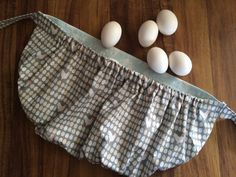 Egg Gathering Apron Blue and Gray Egg and by KittsonsKitchen