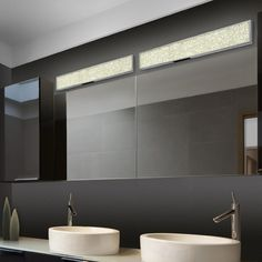 Honed to introduce a glittery update in your bathroom space, the Dazzle 18 inch LED Bath Bar by Sonneman Lighting is a luminaire worth owning. Modern Bathroom Lighting, Bathroom Wall Lights, Modern Bathroom Design, Bathroom Designs, Bathroom Ideas, Modern Bathrooms, Wall Lamps, Bath Ideas, Bathroom Inspiration