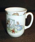 Royal Doulton Bunnykins Swinging Jumping Rope Mug