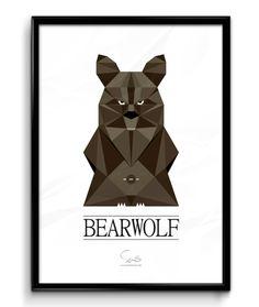 BEARWOLF ( A2 42x59,40 Cm ) brun