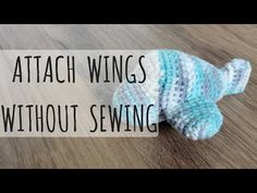 Vertical no-sew plane wings, amigurumi crochet tutorial. Hate sewing on parts? In a previous video I showed you how to attach parts horizontally, now Ill show you how to attach them vertically :) Pattern for plane without propellor: . Crochet Amigurumi Free Patterns, Free Crochet, Crochet Ideas, Free Plane, Planer, Things To Think About, Wings, Stitch, How To Make