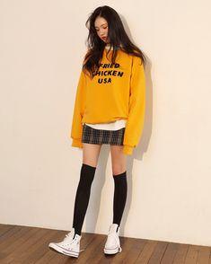 Official Korean Fashion : Korean Daily Fashion - Baby clothing boy, Baby clothing girl, Gender neutral and baby clothing Cute Fashion, Look Fashion, Daily Fashion, Trendy Fashion, Fashion Models, Girl Fashion, Fashion Outfits, Fashion Clothes, Fashion Design
