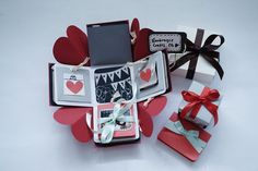 Exploding Box Card Full Tutorial Sweetheart Surprise Theme