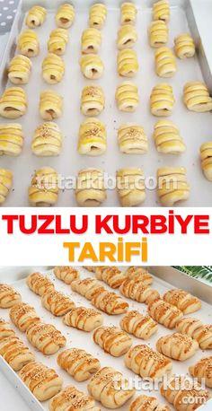 Savory Cookies Recipe- Tuzlu Kurabiye Tarifi How to make savory cookies? Flaky Pastry, Shortcrust Pastry, Wie Macht Man, Breakfast Pastries, Homemade Beauty Products, Banana Pudding, Vegan, Nutella, Cookie Recipes