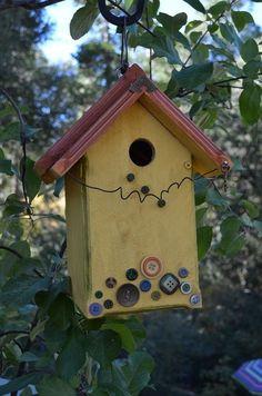 Decorative Functional Birdhouse Yard Art /