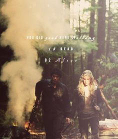 // Bellamy and Clarke // The 100 // The CW // Bellarke //