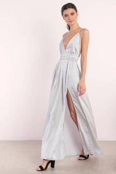 Catch some sun with the Your Love Satin Maxi Dress. Featuring a satin maxi dress. Pair with statement jewelry. - Fast & Free Shipping For Orders over $50 - Free Returns within 30 days!