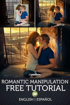 Romantic manipulation free Photoshop tutorial  Español & English