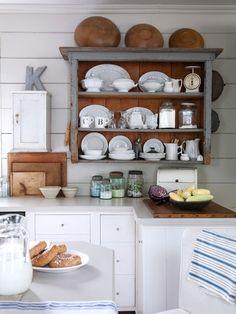 Farmhouse Kitchen with Open Shelving.