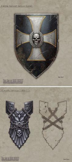 Conheça a arte de Dan Scott | THECAB - The Concept Art Blog via PinCG.com [ Swordnarmory.com ] #Shields #armor #swords