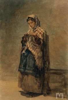 """Miguel Ângelo Lupi (1826 - 1883), """"Camponesa"""" 1875"""