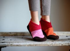 Kids Wool Slippers with Leather Soles, Toddler Shoes, kids size 7.5, 9.5, 11.5, 13, 2.5, Miss Muffet