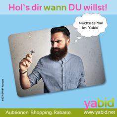 Mal wieder zu lange auf deinen #Artikel gewartet? Bei #Yabid bestimmst DU das #Ende der #Auktion! Hol's dir wann DU willst! www.yabid.net