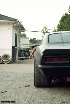I don't mean to beat a dead horse, but the stance is incredible. I love how you can see the fuel cell, shocks, and super wide meats on this Camaro.