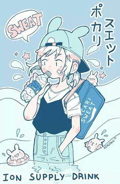 art by nemupan Art Anime, Anime Kunst, Anime Chibi, Art And Illustration, Inspiration Art, Art Inspo, Bel Art, Art Pastel, Art Kawaii