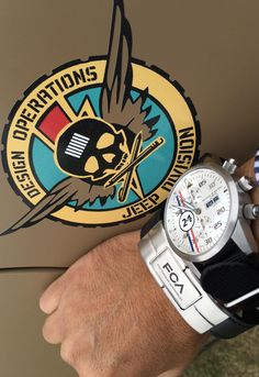 Maurice de Mauriac watch at the Detroit Jeep World Headquarters. Luxury Swiss made watches for men and women.