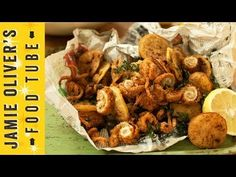 Jamie's got the perfect party food recipe - Crispy Squid with Harissa Mayo.  He'll show you how to prep your squid like a pro, and create a punchy dip to make your guests rejoice!