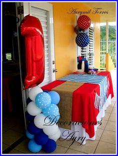 Nautical First Birthday   CatchMyParty.com