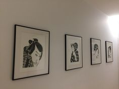 Marta Banaszak JAPANESE PORTRAIT woodcut linocut print in white and black Linocut Prints, Printmaking, Gallery Wall, Japanese, Portrait, Frame, Black, Home Decor, Art