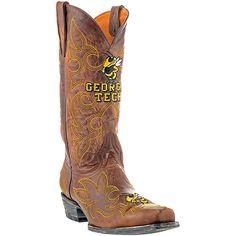 Gameday Georgia Tech Yellow Jackets Cowboy Boots - Brown