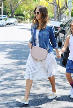 You'll Wear Jessica Alba's $40 Sunglasses Every Day This Summer via @WhoWhatWear