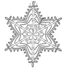 Crochet snowflake chart                                                                                                                                                                                 More