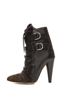 Isabel Marant | Royston Suede Buckle Boot in Bronze
