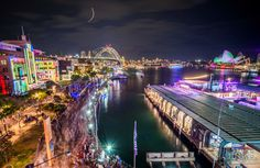 #VIVID 2015 #Photography #Workshops Join Kirsten to learn how to take stunning #Images just like this! #Lights #Night #City #Harbour