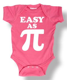 Look at this Raspberry 'Easy as Pi' Bodysuit - Infant on #zulily today!