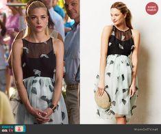 Lemon's blue and black dress on Hart of Dixie.  Outfit Details: http://wornontv.net/46240/ #HartofDixie