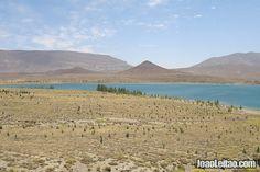 Lake Tislit near Imilchil in Morocco