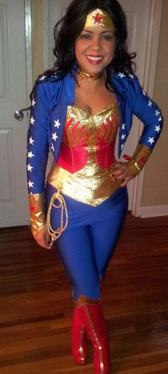 wonder woman costume- a little more covered up.